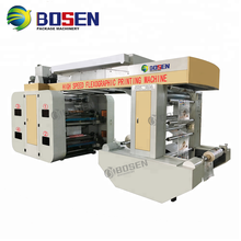 High Speed 2 4 6Color 8Colors Polyethylene Paper Film Drum Flexo Printer Flexographic Printing Machine