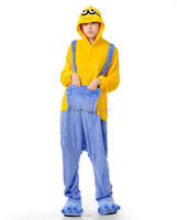 Polar Fleece Despicable Me Yellow And Blue Minions Unisex Onesie Cosplay Costume Hoodies/Pyjamas/Sleep Wear HFC024