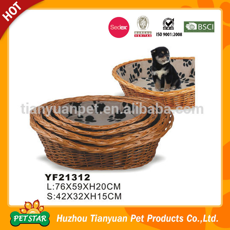 China Supplier Wicker Dog Bed