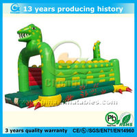 top popular 2015 inflatable dinosaur bouncer combo