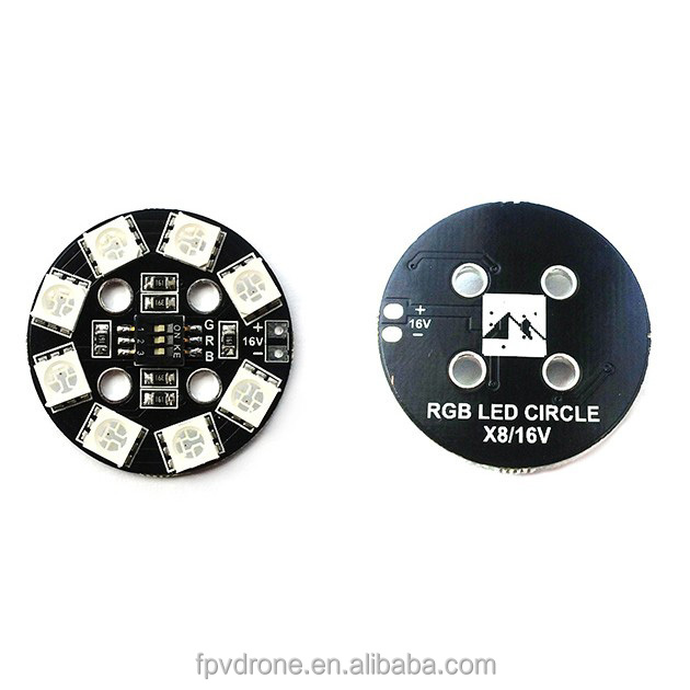 RGB LED Round Circle Board 5050 X8-16V X8 16V 7 color for FPV RC Multicopter Matek for QAV250