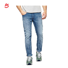 2017 Hot sell custom men 100% cotton denim jeans trousers wholesale in cheap price