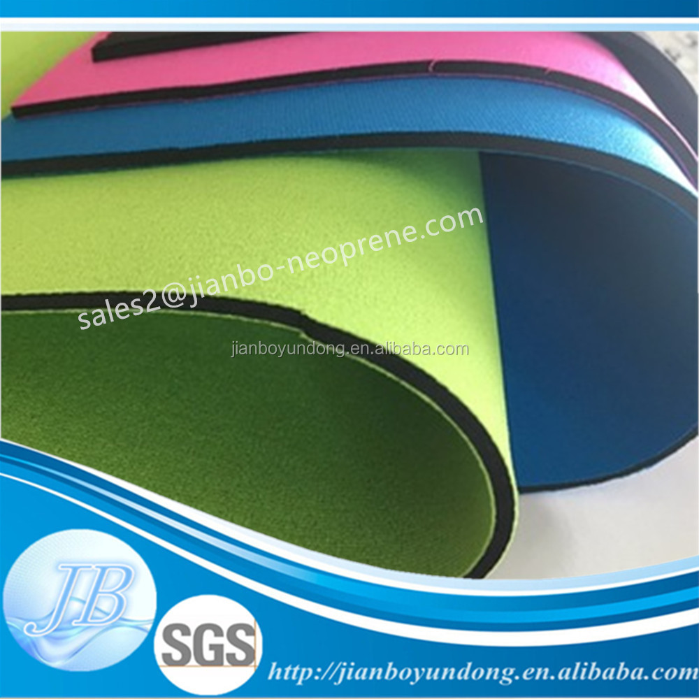 Customized manufacture super stretch neoprene neoprene with polyester fabric