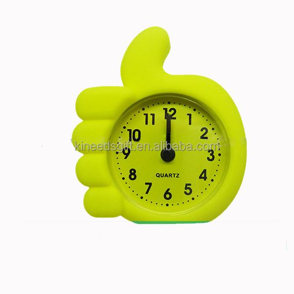 Creative Mini Candy Color Round Face Silicon Rubber Digital Alarm Clock