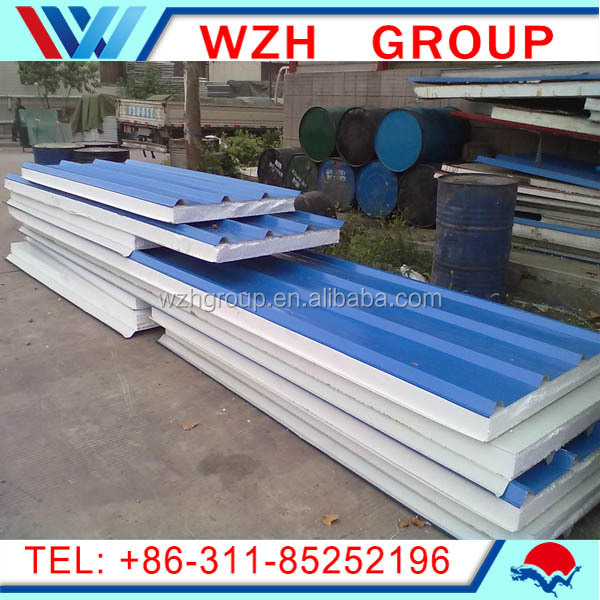 HDP Coating Color Steel Insulated Fire proof PU Cold Storage Sandwich panel for Cooling Room from china supp from china supplier
