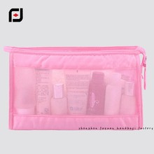 wholesale microfiber quilted mini mesh cosmetic bag for traveling
