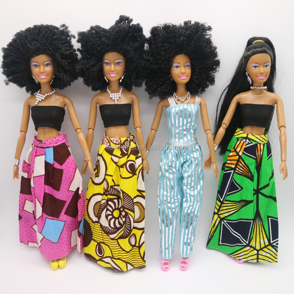 New arrival 11.5 inch Black Jointed African Girl <strong>doll</strong>