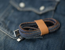 Denim Charging and data sync usb data cable compatible with ISO9 and updated system