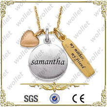 New Arrival Stainless Steel 3 Necklace Best Friend