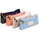 Canvas Cosmetic Pencil Stationery Pouch Bag Pen Case