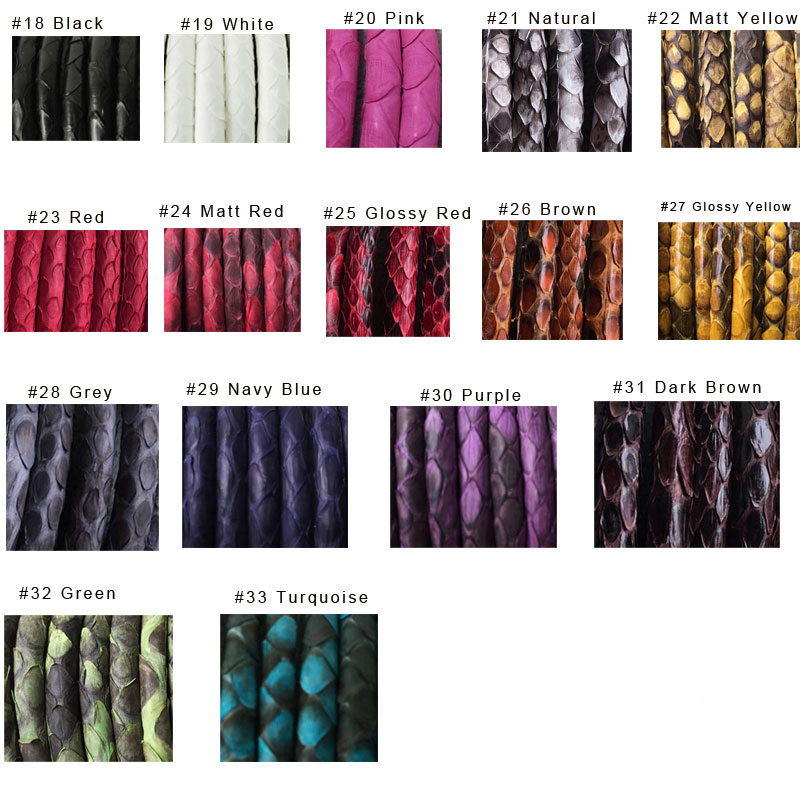 Custom Fashion Bracelet 9mm Genuime Snake Skin Stitched Leather Cord Singapore