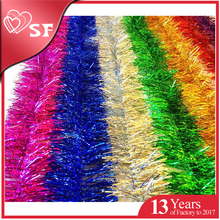 Golden/Red/Hot Pink/Blue/DarkGreen Elegant Sparkly Hanging Tinsel Garland for Halloween Christmas Wedding Decoration