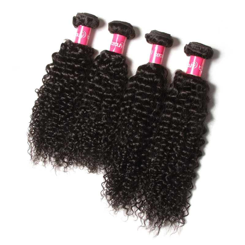 Factory in China Wholesale <strong>Cheap</strong> Deep Curly Human Hair Weaving Quality Human Hair Extensions