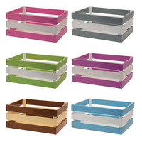 Eco small wood crate wood display storage basket for shop