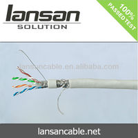 23AWG 0.574mm CAT6 SFTP Cable, UL list, 100% pass FLUKE TEST