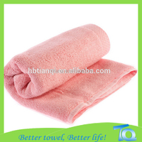 anti-bacterial bamboo cut pile solid color children towel, bath towel