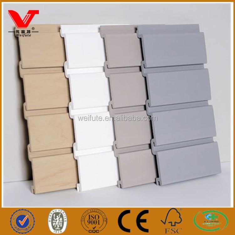 Yiwu Factory Pvc Slatwall Board For Garage Decoration
