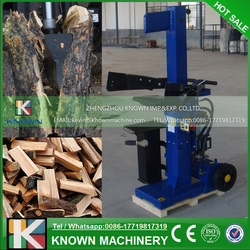 The CE approved 15 ton electric log splitter / wood log cutter splitting machine