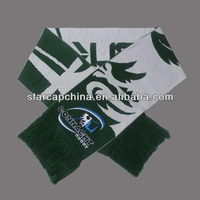 SPORTS SCARF FOOTBALL TEAM SCARF WITH JACQUARD PATTERN