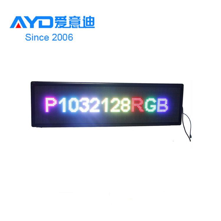 Ali express cheap hot sale led scrolling sign,advertising rotate led display