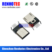 Right Angle Solder PCB 5 pin Micro B SMD USB Connector