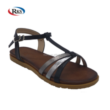 branded ladies fancy flat leather sandals