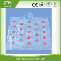 Promotional Individual Disposable Recyclable PE Rain Poncho