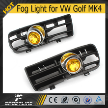 JC Auto Parts (2pcs/set) ABS Yellow Front Fog Light for VW Golf 4 MK4 98-04