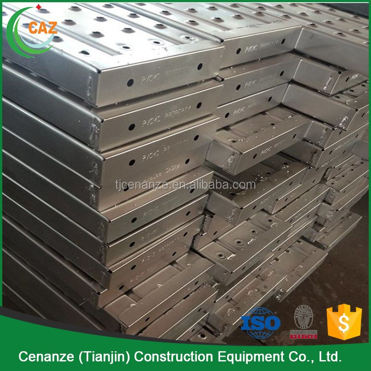 scaffold punched plank used for construction scaffolding for bridge