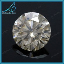 High quality H color round cut white moissanite diamond