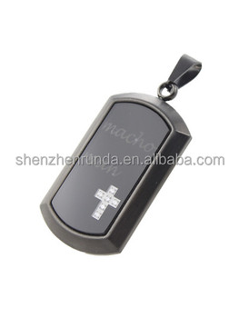 new design stainless steel black pendant and glass plated