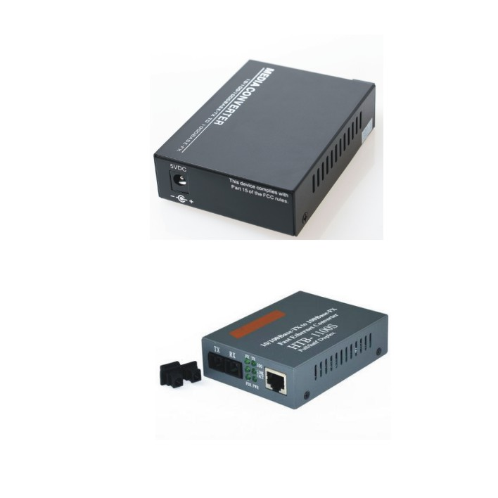 Gigabit Ethernet Fiber Media Converter 10/100 Base TX To 100Base FX Bridging Converter Singlemode Single fiber 1310nm