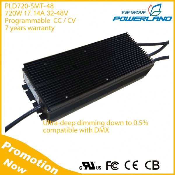 720W 17.14A 32-48Vdc Programmable Street Led Lighting Driver with PWM DMX Dimming