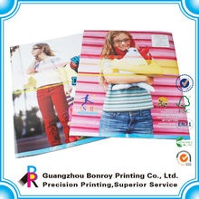 Custom printing fashion and colorful fashion design softcover book