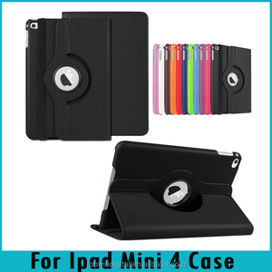 For Ipad Mini 4 Case Auto Wake Up Sleep Cover 360 Degree Rotating Stand Flip PU Leather Tablet Case For Ipad Mini 4