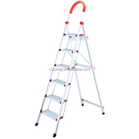 Folding & Safety Aluminium Step Ladder with handrail/ 6 steps ladder TL-6206