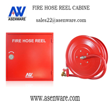 Asenware Wall Mounted Fire Hose Reel Cabinet with Nozzle for Office