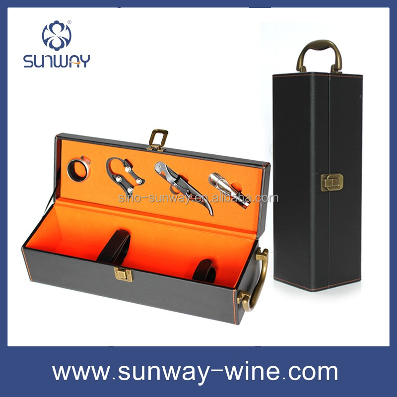 Wholesale wine carrier best selling wine case professional empty wooden wine box