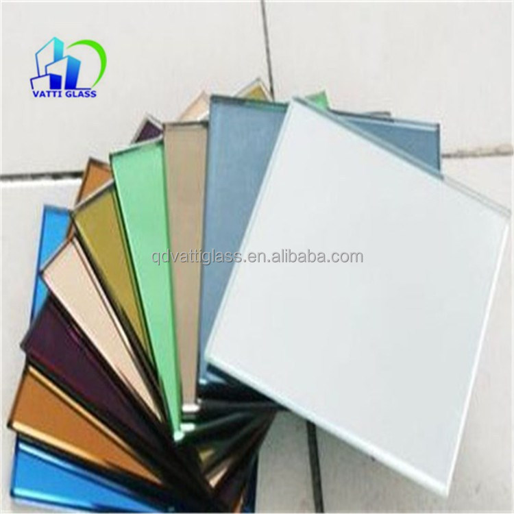 decorative colored wall mirrors clear glass panel sizes clear solar panel silver coated safety mirror glass for bathroom