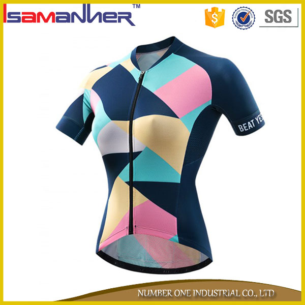 Cheap wholesale bicycle jersey custom women cycling clothes china
