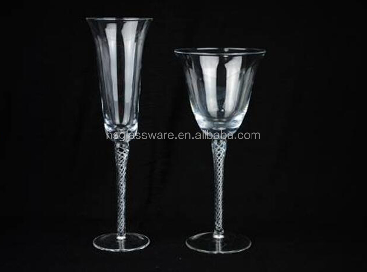 China Suppliers Wholesale High Quality Twisted Stem Wine Glass