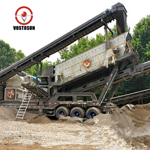 Mobile limestone crusher plant with impact crusher for sale