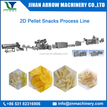 2017 Hot Sale High Quality Potato Starch Chips Pellet Extruding & Frying Production Line