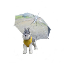 High Clear Eco-friendly 8C POE Dome White Transparent Pet Walking Umbrella Foldable Waterproof Dog Umbrella