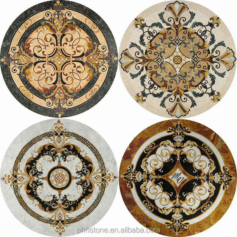 Pfm excellent marble inlay flooring buy marble for Wood floor medallions inlay designs