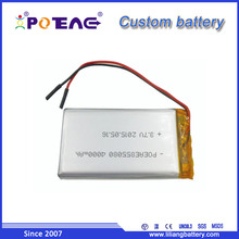 855080 li-polymer 3.7V 4Ah rechargeable lipo battery for power bank