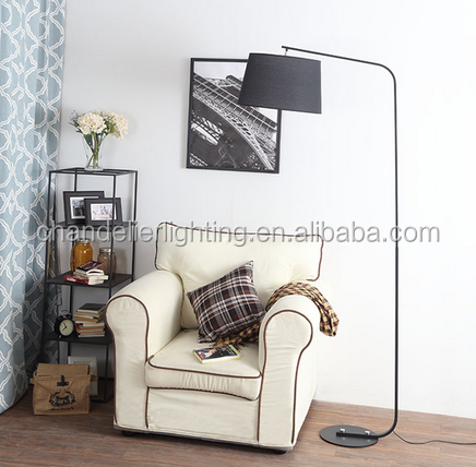 Post-modernity simple cloth floor lamp for home and office on sale