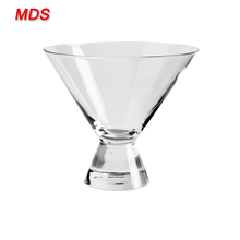 Hand-made firm and stable stemless martini glass