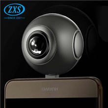 Factory price dual lens mini sport camera panoramic wifi vr 360 camera android phone