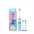 Fashionable Ultrasonic Electric Toothbrush With 2 Heads